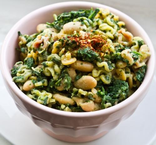 Spinach Cannellini Pasta