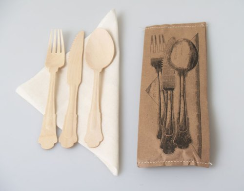 Table Cutlery and Napkin Set for One Person $4.50