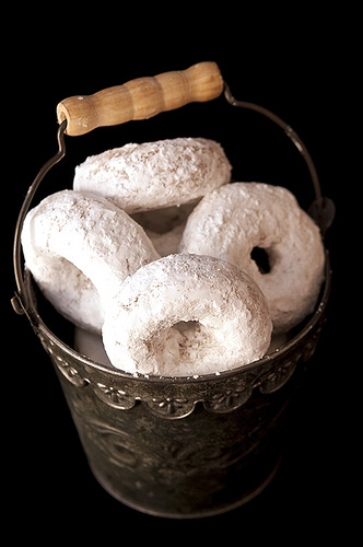 Whole Wheat Powdered Sugar Donut