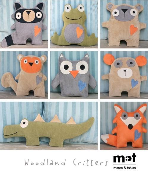 Mateo & Tobias, Woodland Critter Plush Toys $20