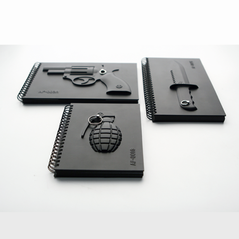 Weaponry Notebooks $20 (ea)