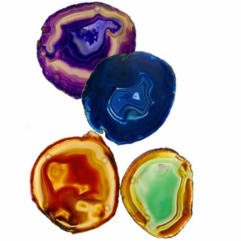 Rablab Colored Agate Coaster Set, $55