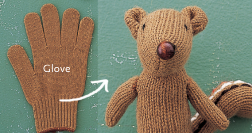Recycled Glove How-to: Make a Chipmunk Softie