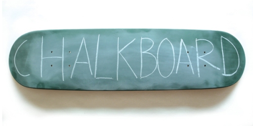 Mary & Matt Chalkboard Skateboard $76