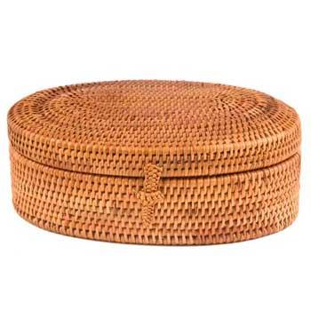 Oval Lidded Box $19