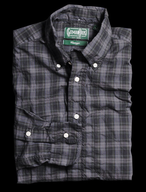 Gitman Vintage Overdyed Tartan Plaid Shirt $170