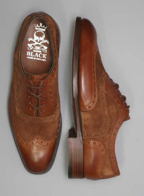 Barker Black Spectator Shoes
