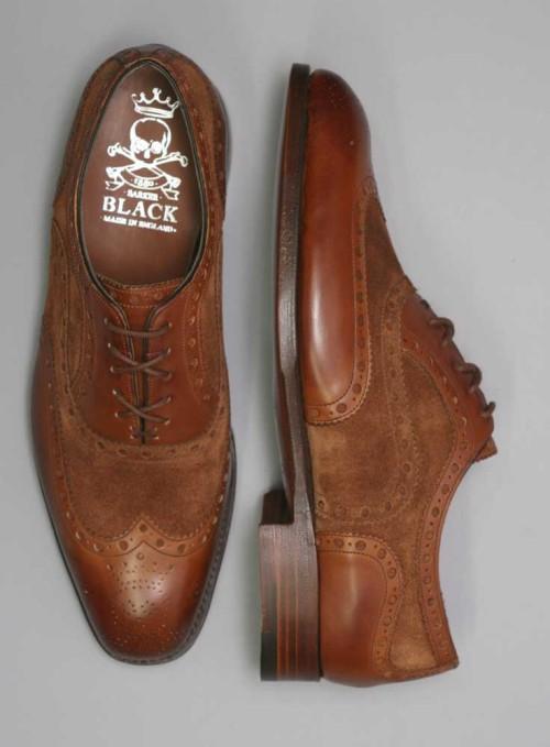 Barker Black Spectator Shoes