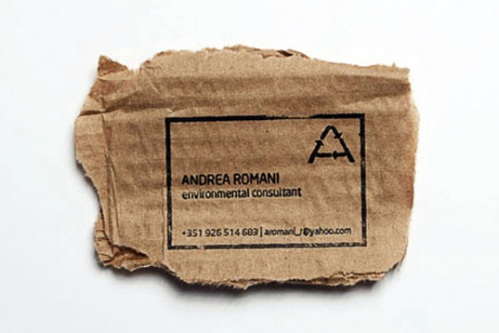 Andrea Romani Ecological Business Cards