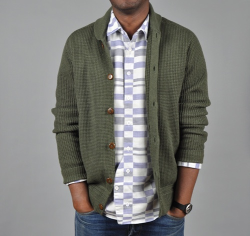 Folk Waffle Button Up Cardigan, $283