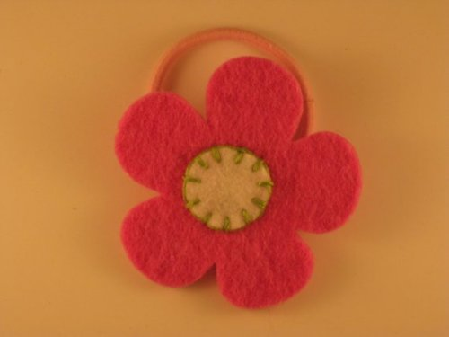 Felt Flower Ponytail Holder