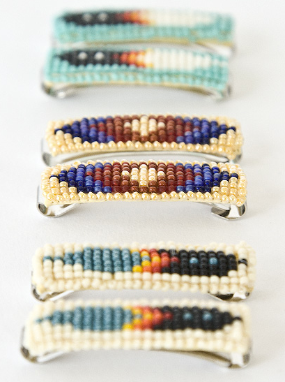 Beaded Barrettes, $36 (set of 2)