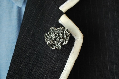J and HP Lapel Flowers