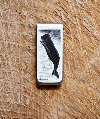 CXXVI Whale Money Clip, $96