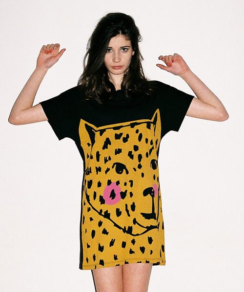 Lazy Oaf Big Cat Tee Dress