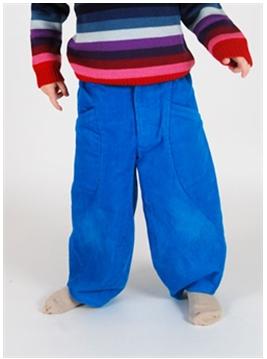 Henrik Vibskov Digi Blue Velvet Pants