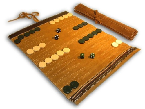 Leather Backgammon Roll $35