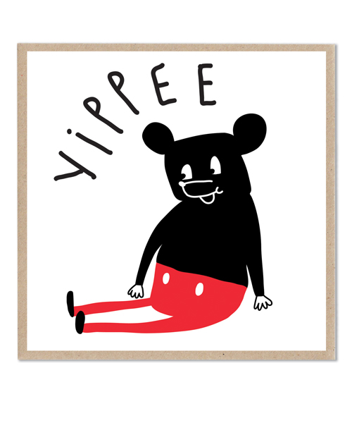 Lazy Oaf Yippee Card