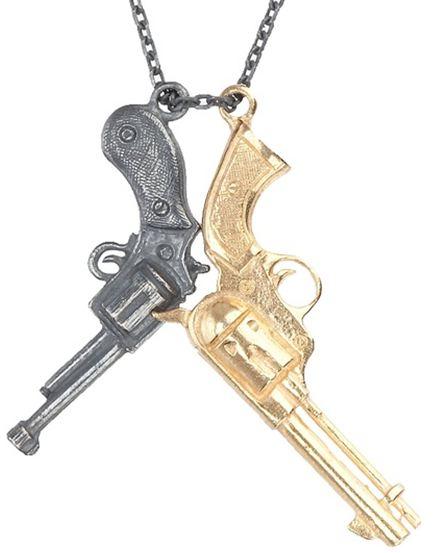 Tomasz Donocik Double Gun Necklace, $148
