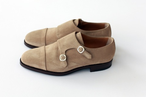 Sand Suede Double Monk