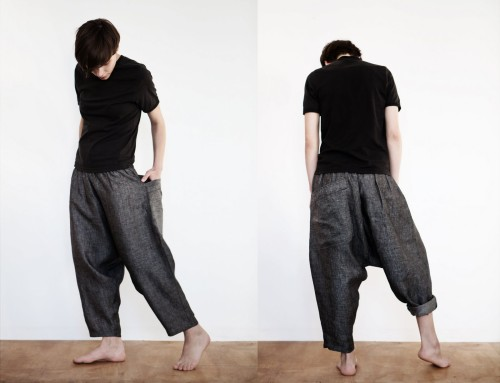 Made By Muku Linen Cropped Pants