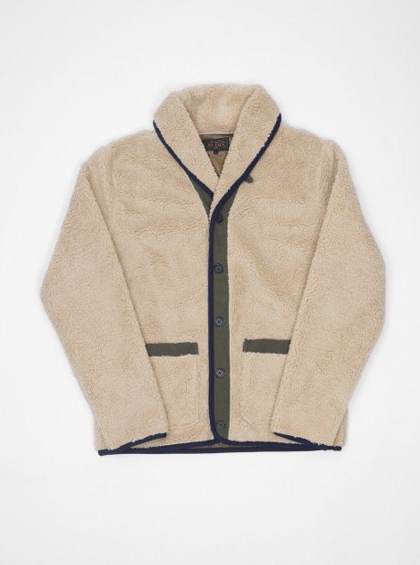 Beams Plus Shawl Fleece Cardigan