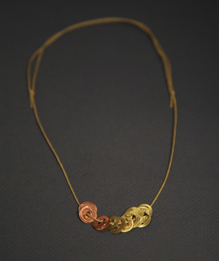 Deborah Rice Molten Token Necklace