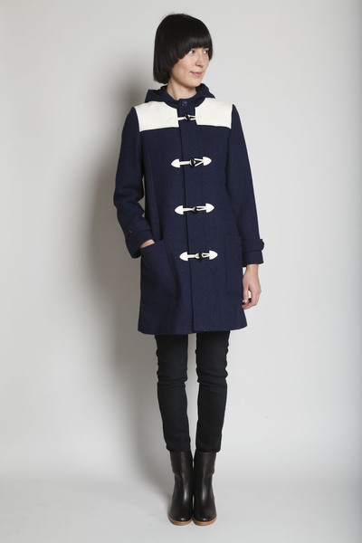 A.P.C. Hooded Pieced Toggle Coat, $665