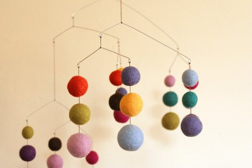 Felted Wool Mobile