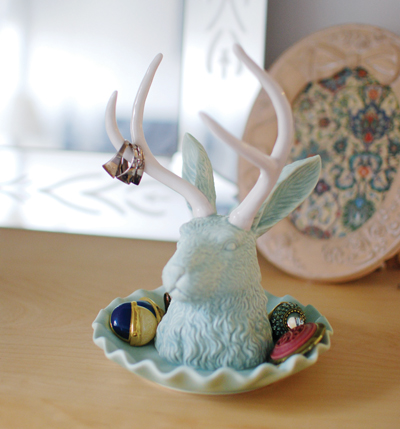 Jackalope Jewelry Holder