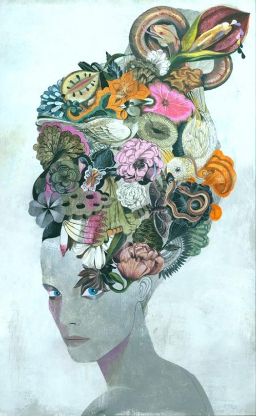 Olaf Hajek 'flowerhead' Illustration