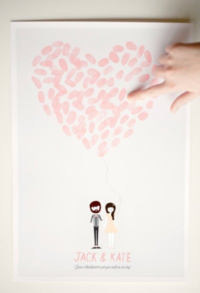 Custom Thumbprint Heart Poster
