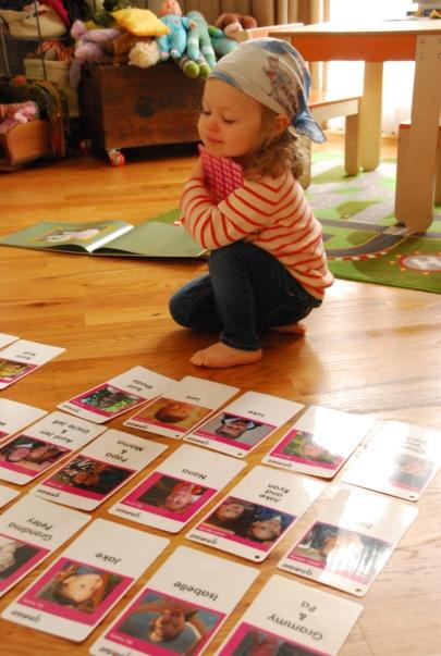 Leni loving her Goosie Cards