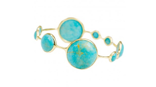 The Lollipop Station Bangle in Turquoise 18k gold and turquoise $3795