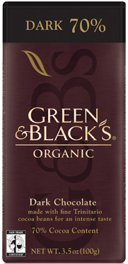 Green and Black's Organic 70% Dark Chocolate