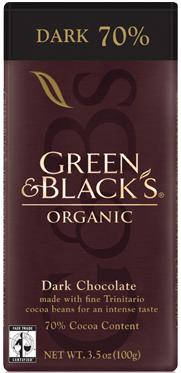 Green and Black's Organic 70% Dark Chocolate