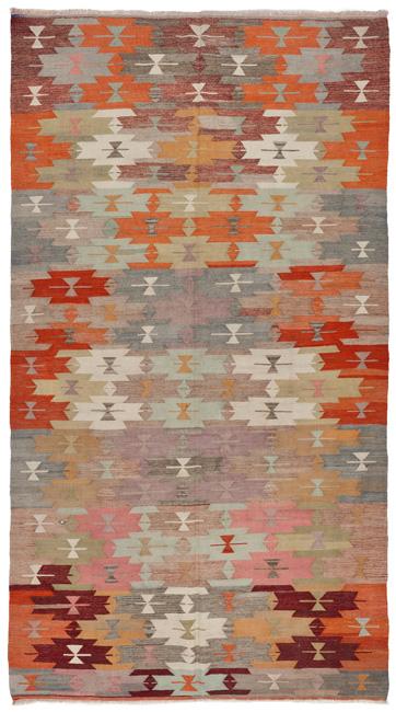 1754 Vintage Anatolian Kilim Rug