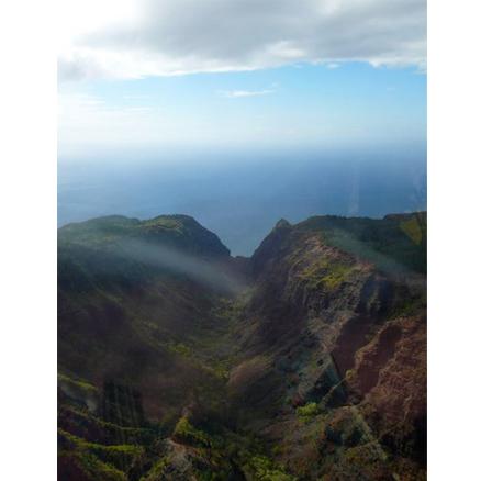 Hawaiian helicopter ride