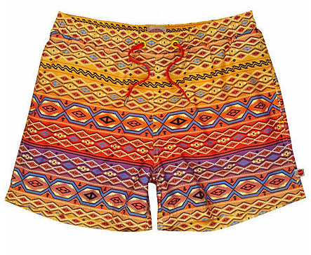 Aztec Print Swim Shorts