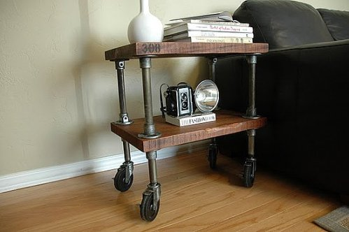 Vintage Industrial Side Table