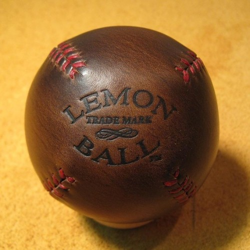 LEMON BALL Leather Ball, $40