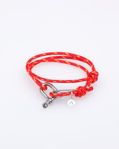 Orange Nautical Shackle Bracelet