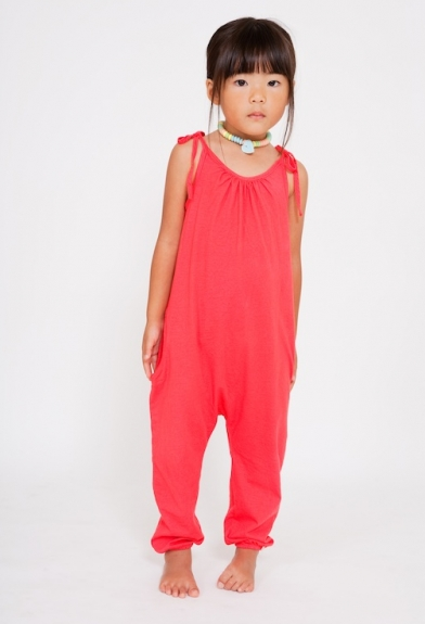 Organic Cherry Jumpsuit (also comes in Slate, Tangerine & Blueberry)