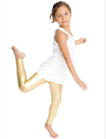 American Apparel GOLD LAME Leggings