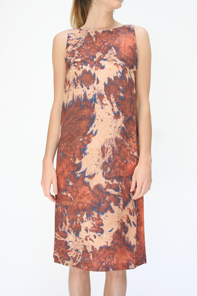 Shabd Rust Lumen Shift Dress