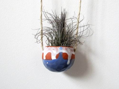 Terracotta Hanging Ceramic Pinch Pot